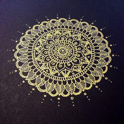 Gold Mandala Kunstproduktion Zeichenvorlagen Bunte Zeichnungen