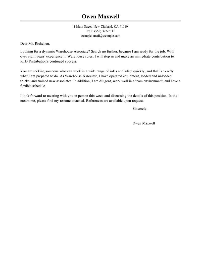 Cover Letter Examples For Manufacturing Jobs  Google Search  Kh