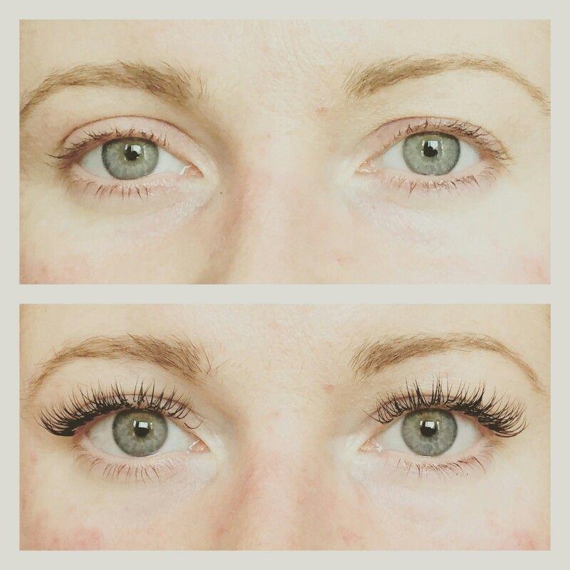 Full set of individual eyelash extensions   Extensiones de ...