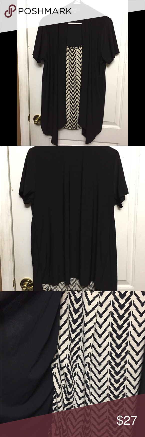 Naïf Dressy Black and Beige Blouse Naïf Dressy Black and Beige Blouse One shirt with a black cover . It is great for a office or dressy event.  Made…
