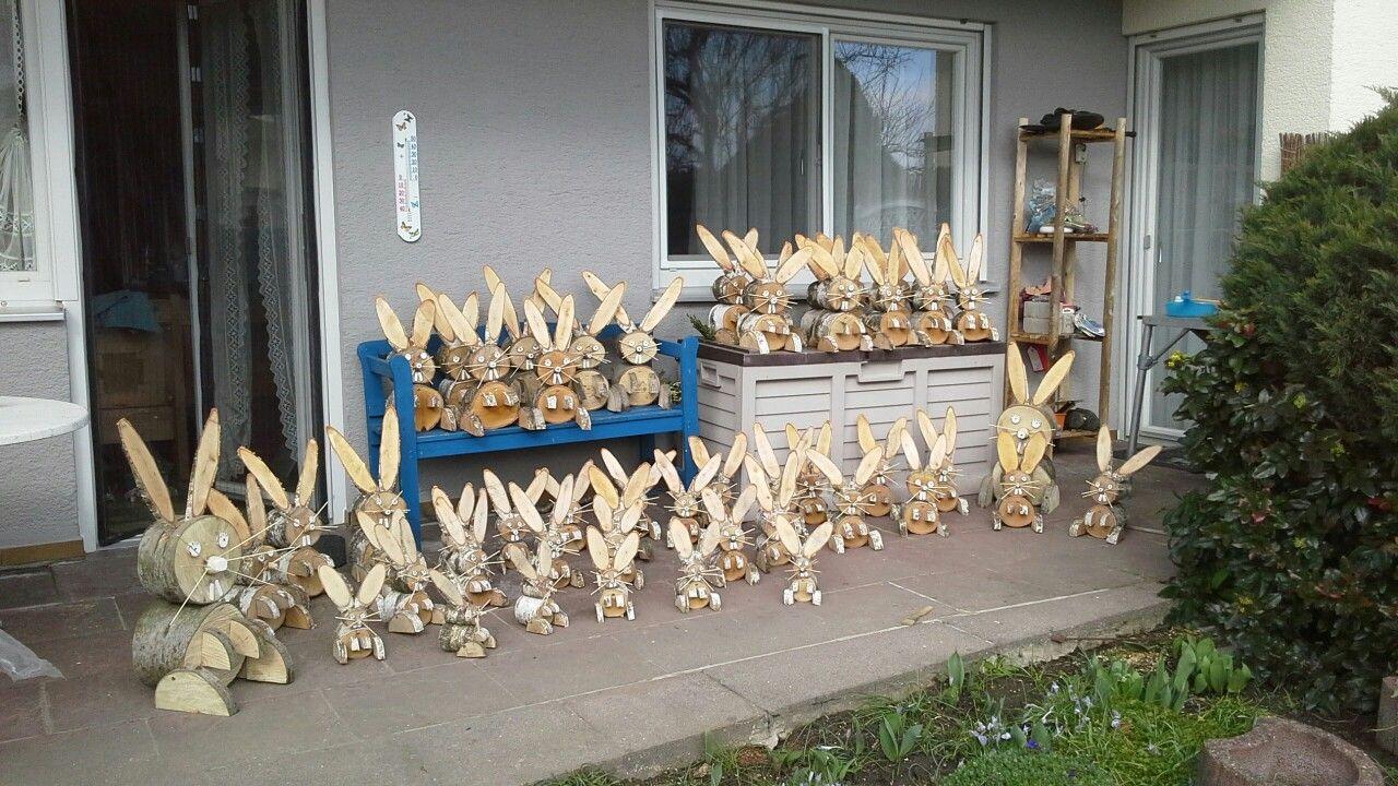 Die besten 25 osterhasen basteln aus birkenholz ideen auf pinterest holzwurm baumscheiben - Deko aus birkenholz ...