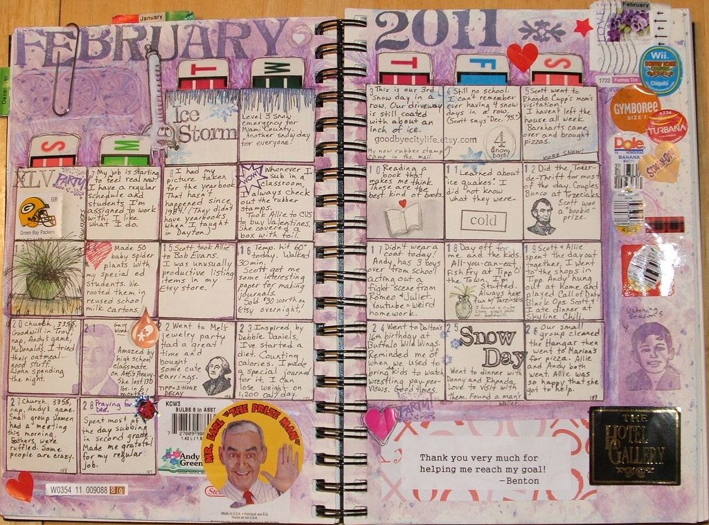 Calendar Planner Journal : Journal calendar this would be cute for my kids to write