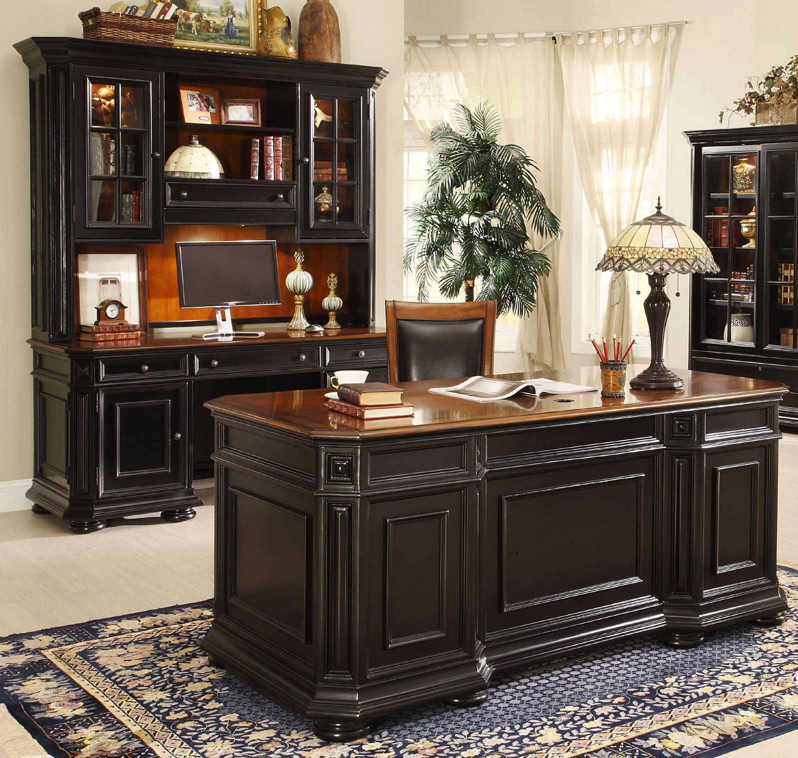 Allegro Executive Home Office Desk Set By Riverside Home Gallery