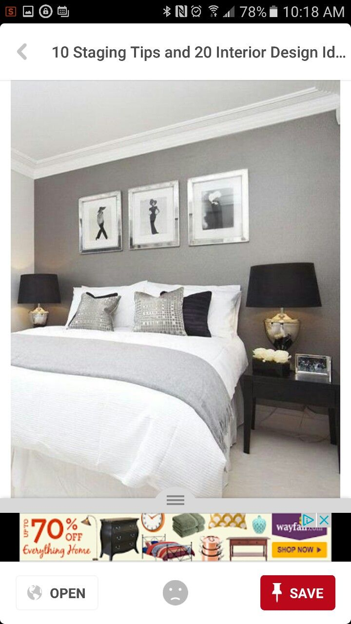 Master bedroom accent wall  Pin by PupLid on Accent Wall  nd Bedroom  Pinterest  Bedrooms