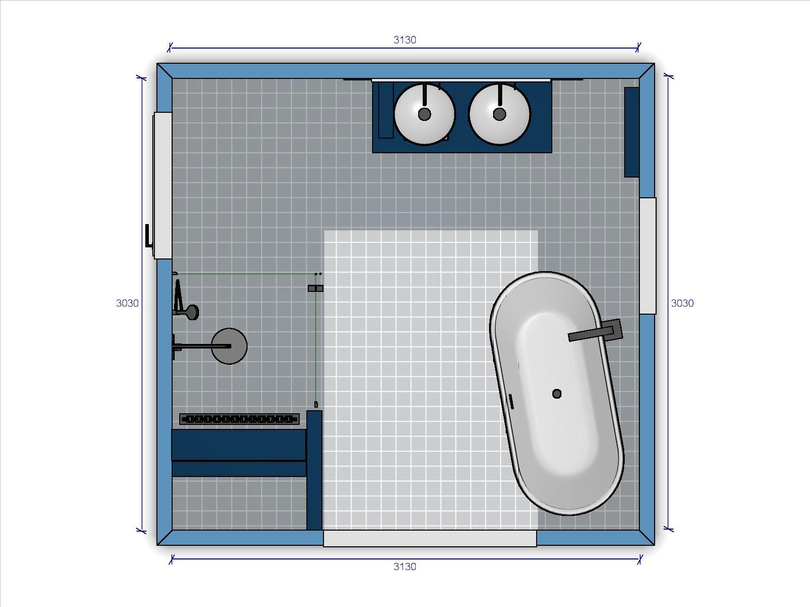 welbie sanitair badkamer wijchen ontwerp schets voor badkamer