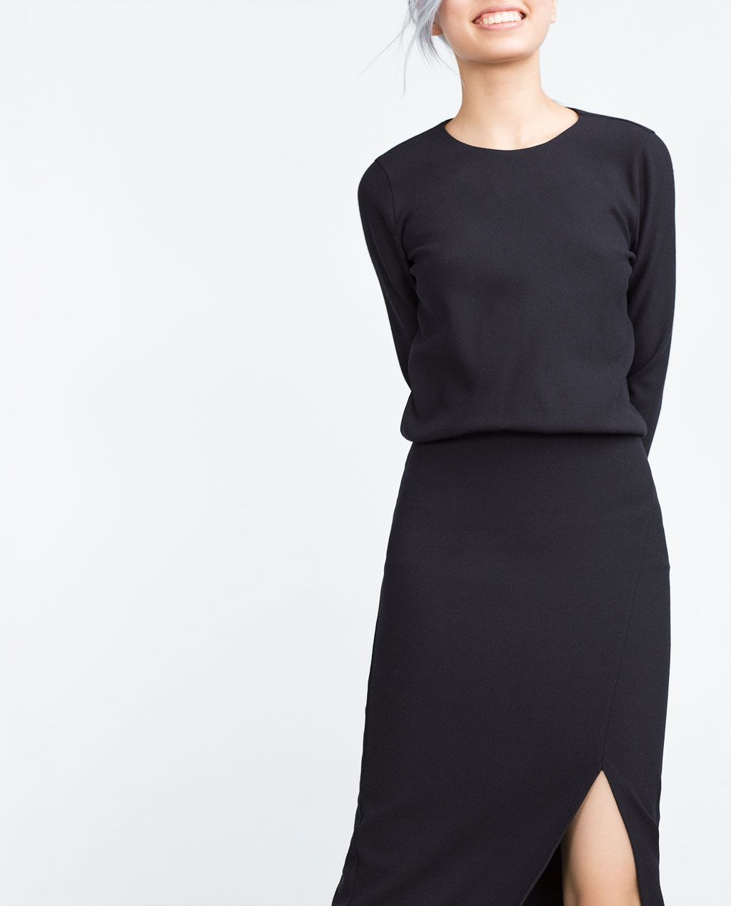 Image 4 Of Midi Dress With Slit From Zara Style Midi