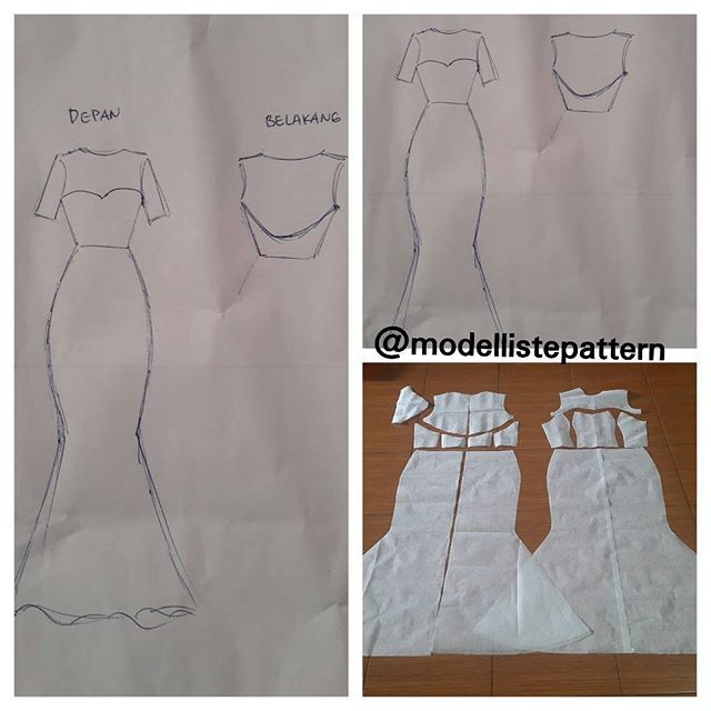 Mermaid Dress Pattern Basic Order By Line Modelliste With Enchanting Mermaid Dress Pattern
