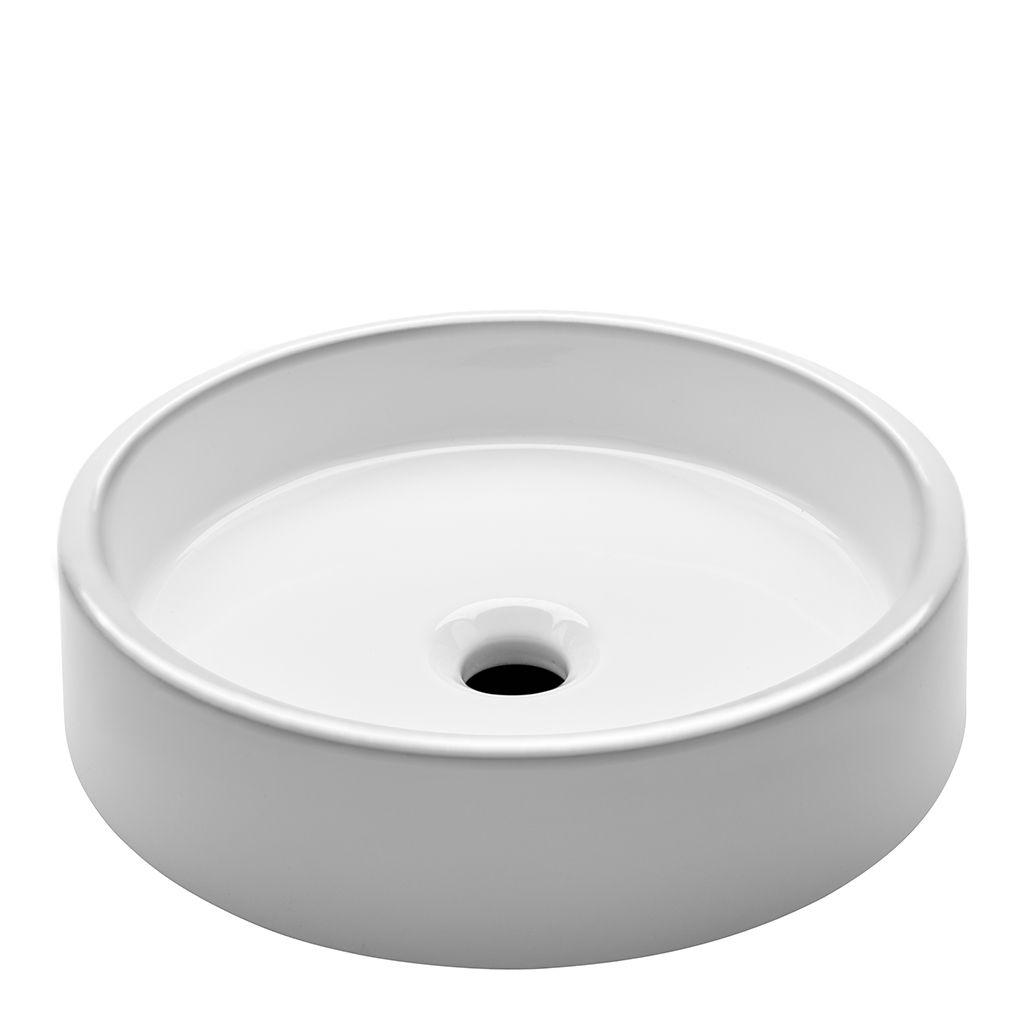 Clara Undermount Round Vitreous China Double Glazed Lavatory Sink 15 3 4 X 15 3 4 X 4 Lavatory Sink Sink Waterworks Bathroom
