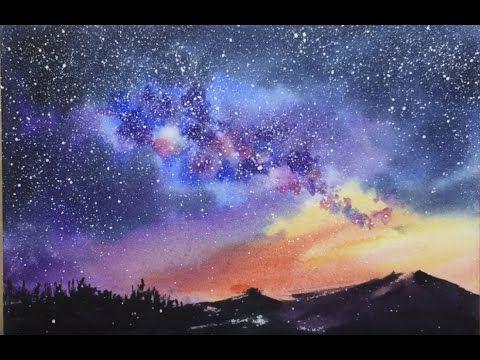 Como Pintar Una Galaxia Realista Con Acuarelas Tutoriales De Acuarela Videos De Pintura Arte De Acuarela
