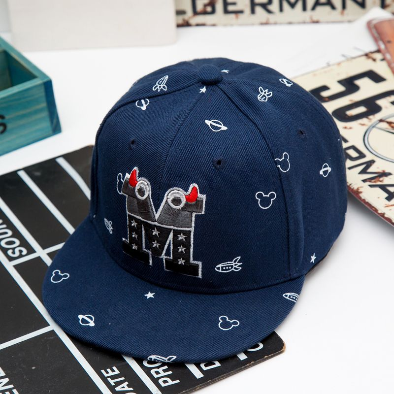 Trend Hat Snapback Cap Kid Boys Girls Letters Baseball Caps Flat Hip Hop Cap