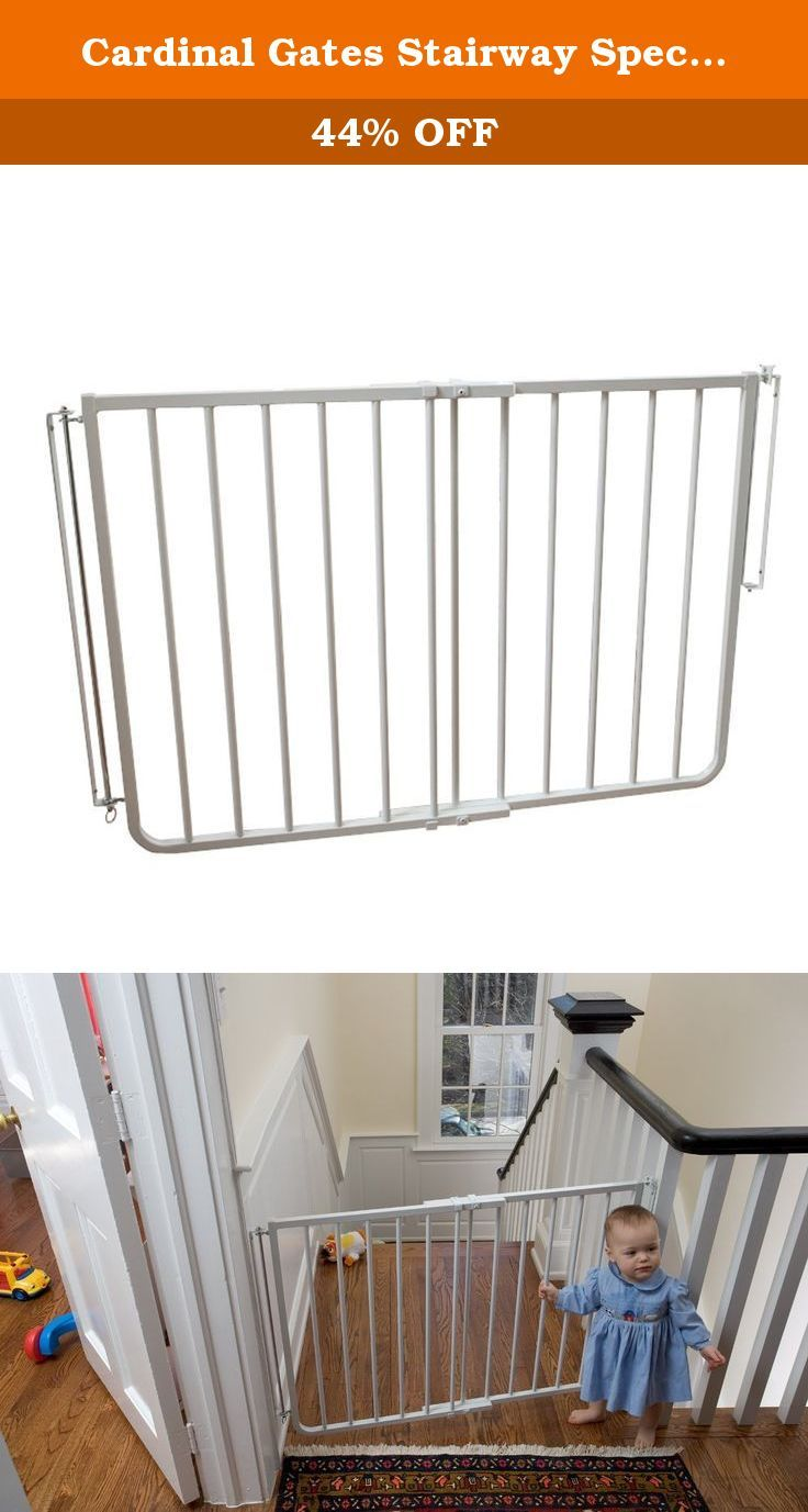 Cardinal Gates Stairway Special Gate, White. The Stairway Special Gate  (Model SS 30