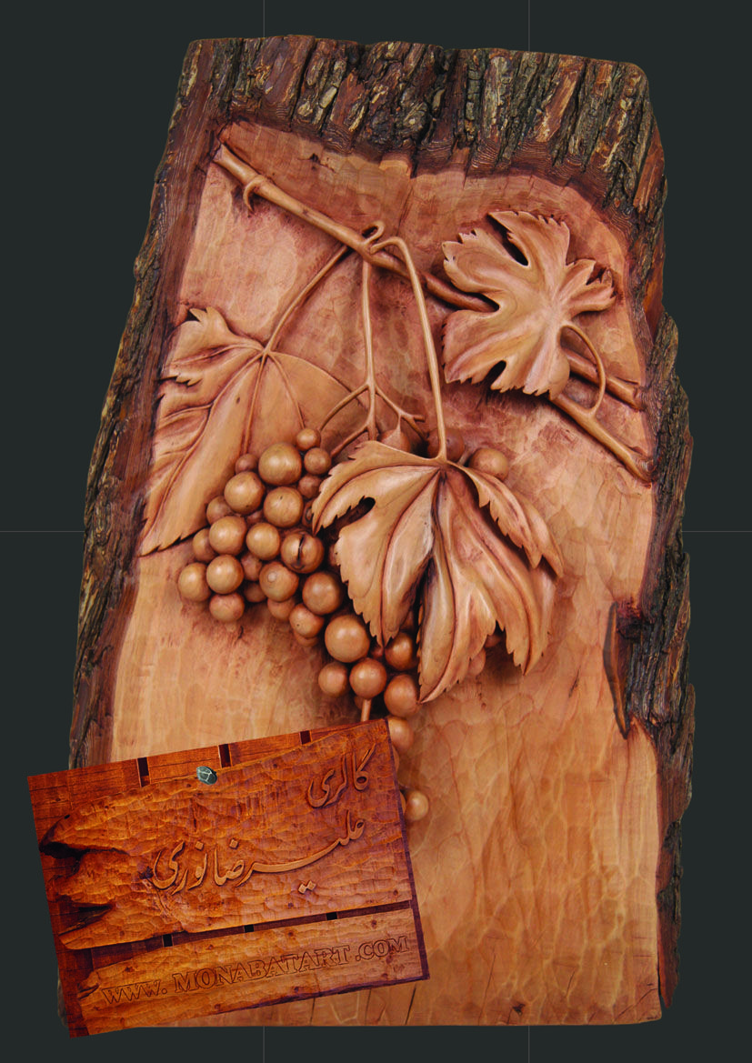 Hand made wood carving of grape vines carved pinterest grape