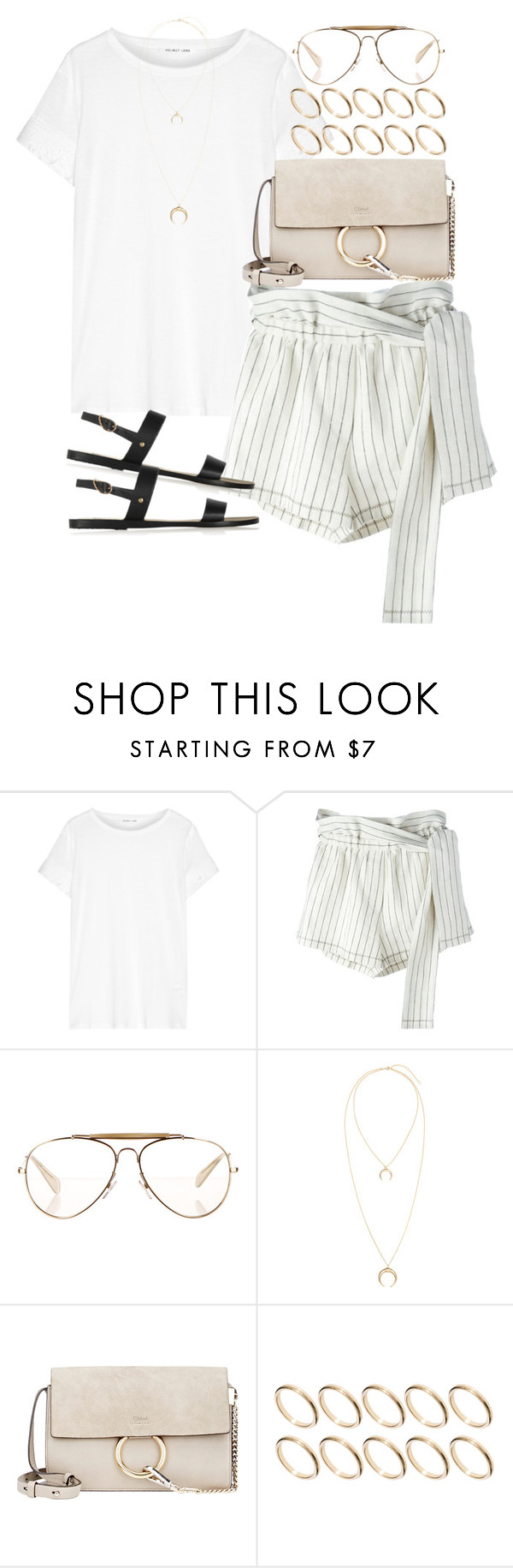 """Sin título #4166"" by hellomissapple ❤ liked on Polyvore featuring Helmut Lang, 3.1 Phillip Lim, CÉLINE, Chloé, ASOS and Ancient Greek Sandals"