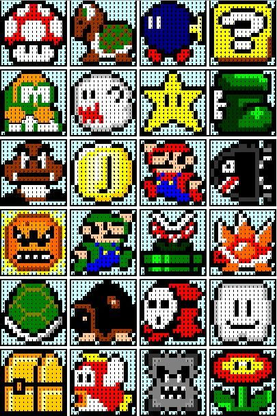 the recipe bunny super mario quilt diy pixelart hama. Black Bedroom Furniture Sets. Home Design Ideas