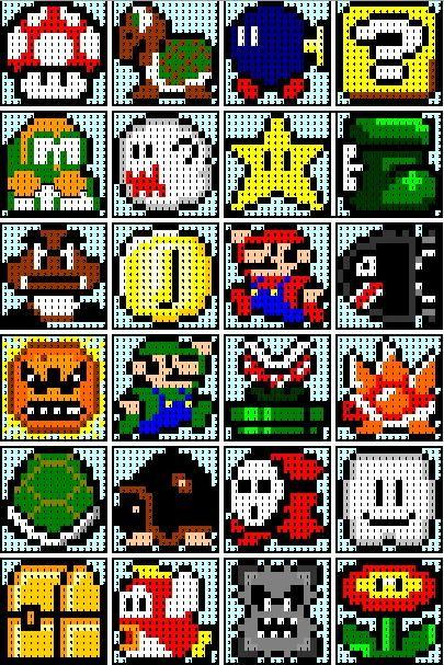 Mario bros ponto cruz