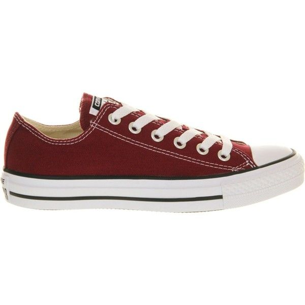 43cbc863ca26 Converse All Star low-top canvas trainers (£38) ❤ liked on Polyvore  featuring men s fashion