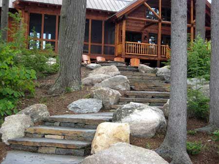 lake landscaping Google Search cabin landscape Pinterest