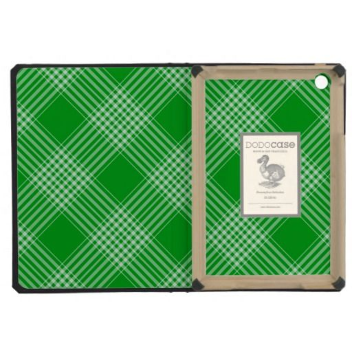 Green Tartan Plaid iPad Mini Cases