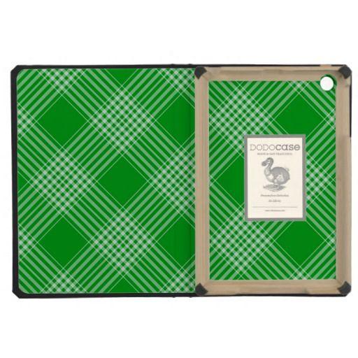 Green Tartan Plaid iPad Mini Cases