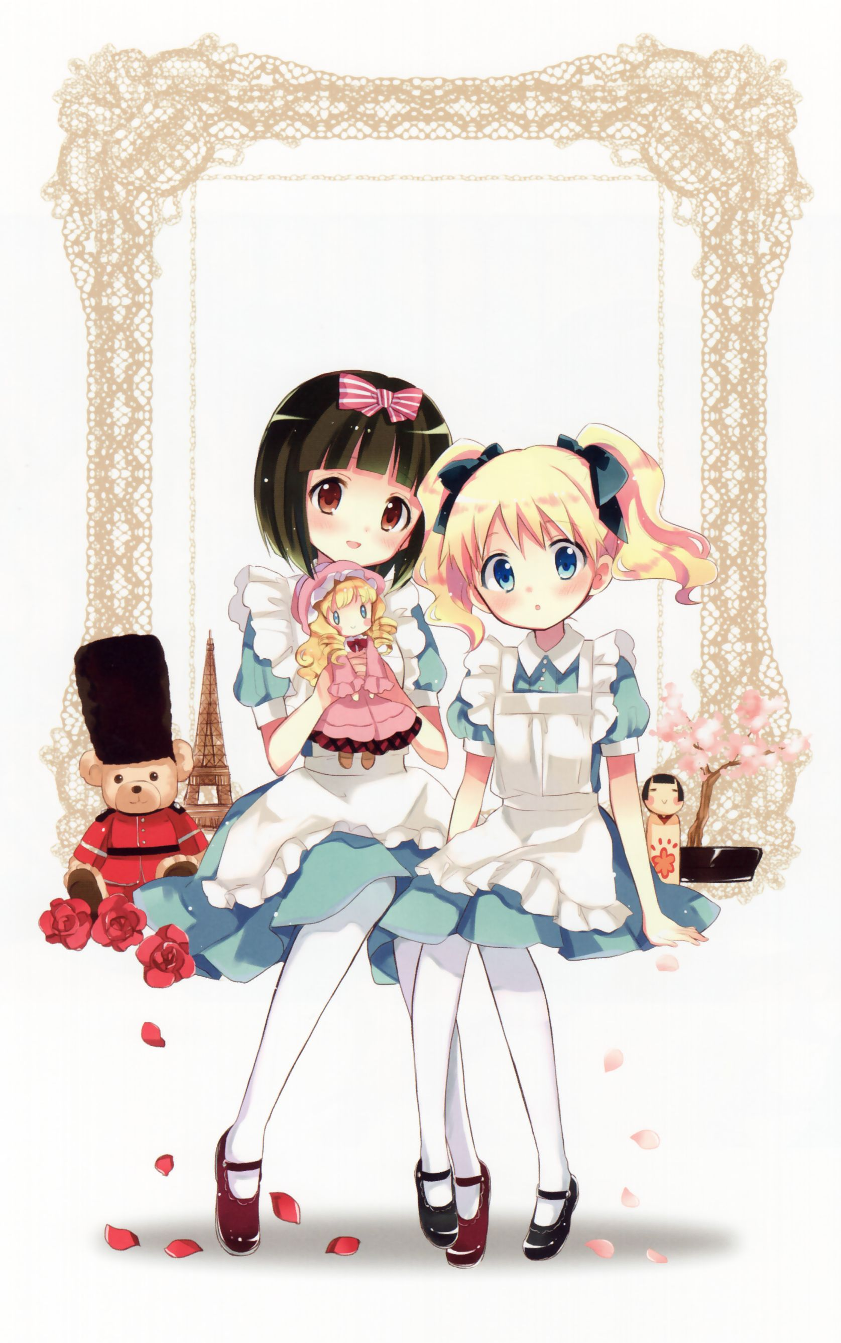 Kiniro Mosaic Alice And Shinobu Art By Hara Yui Zerochan
