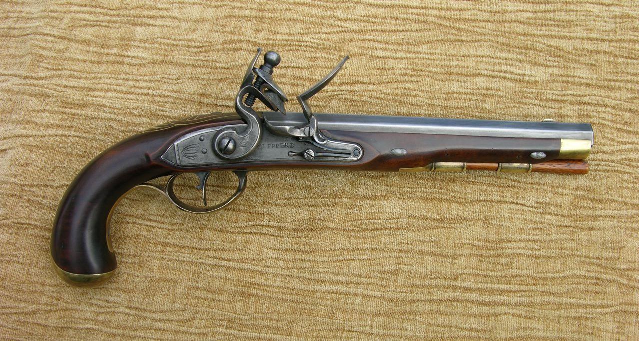 Pistol By David Dodds Applewood Stock 45 Cal Castings Made From An Antique Flintlock Pistol Black Powder Guns Antique Guns