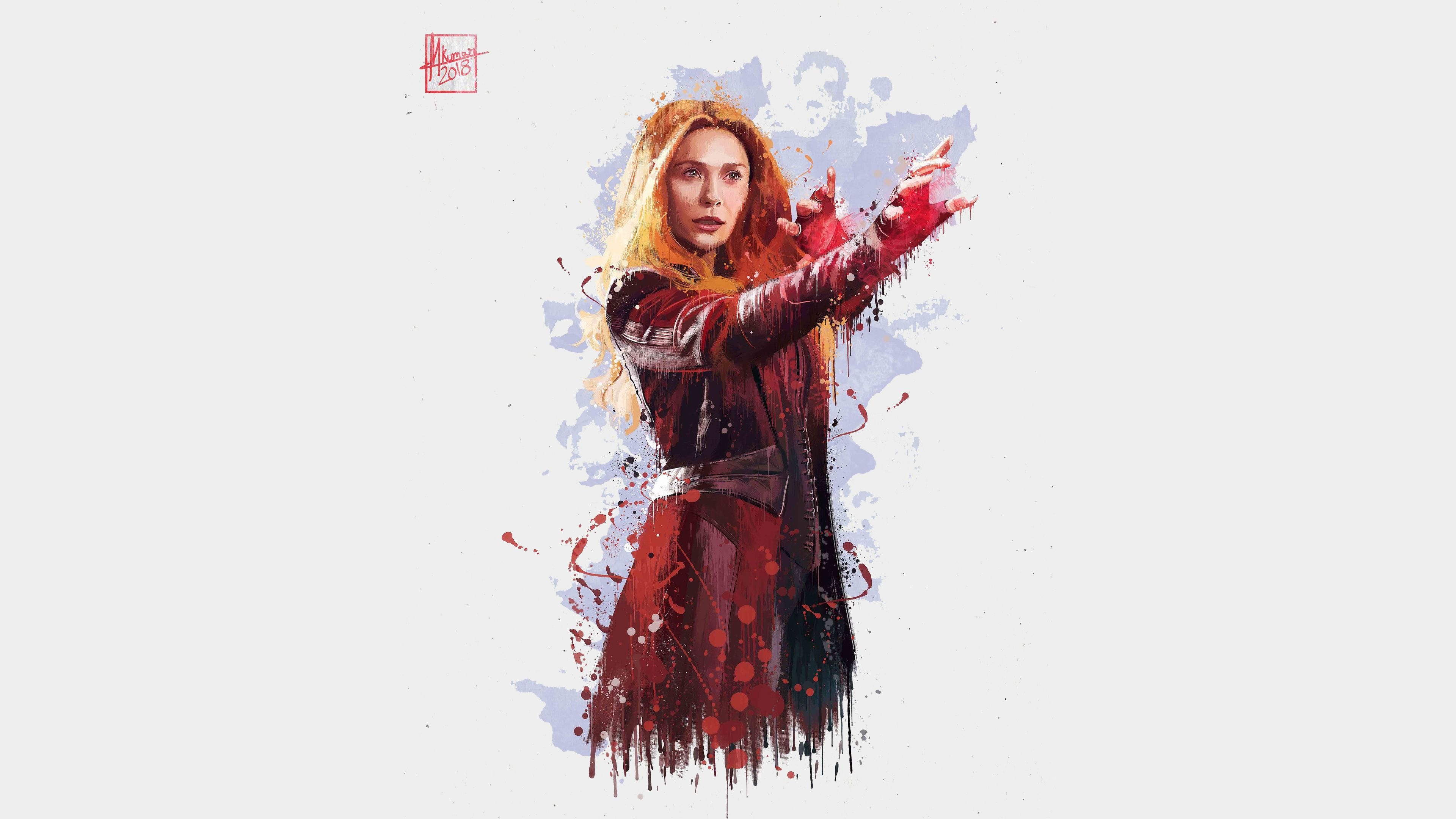 Scarlet Witch Avengers Infinity War Artwork 2018 720x1280 Wallpaper Scarlet Witch Avengers Scarlet Witch Marvel Marvel Infinity War