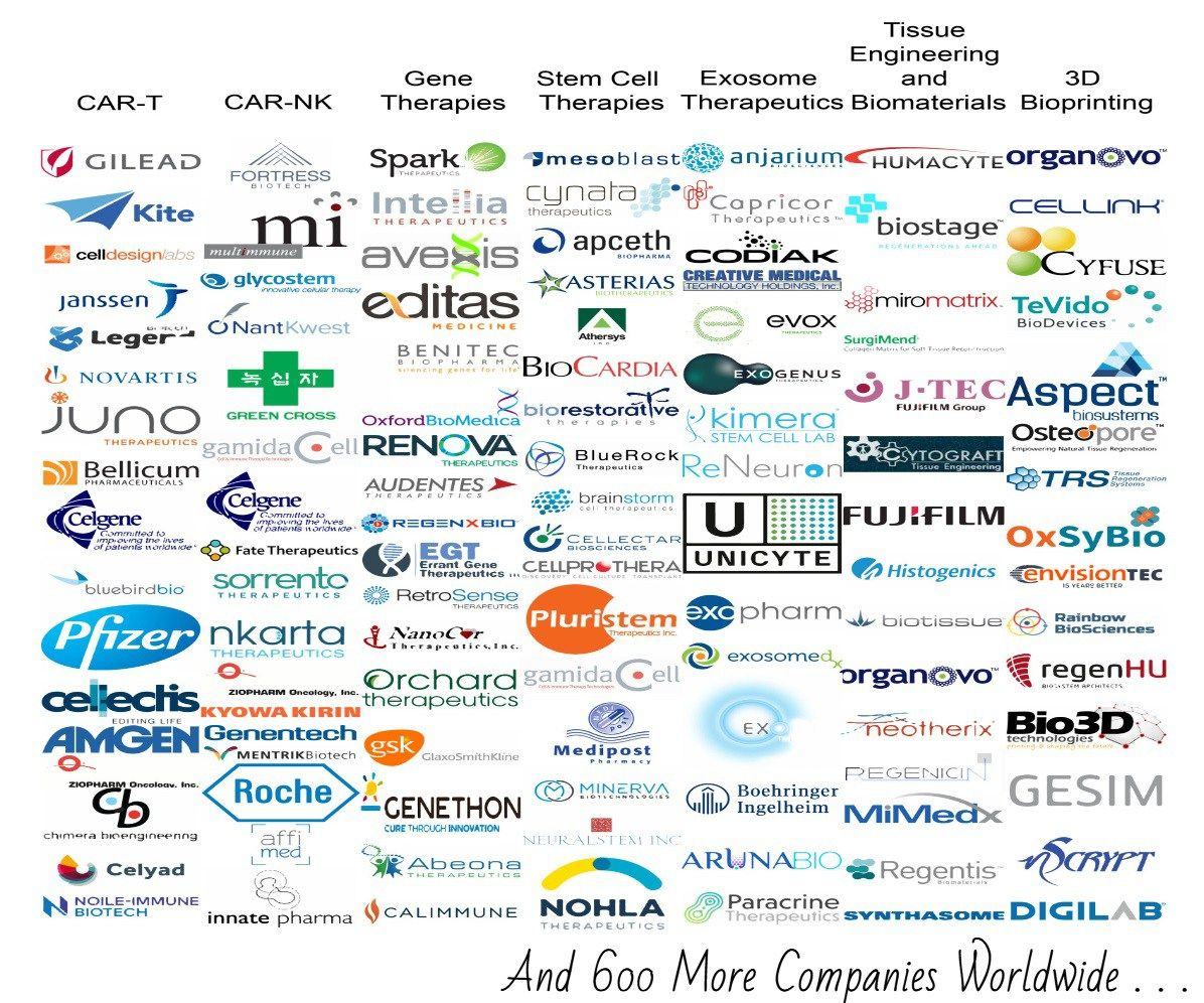 Regenerative Medicine Industry Database 800 Companies Worldwide Regenerative Medicine Tissue Engineering Medicine