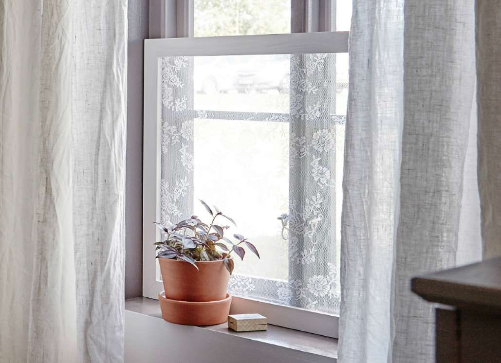 Frosting glass is the easiest way to maintain privacy