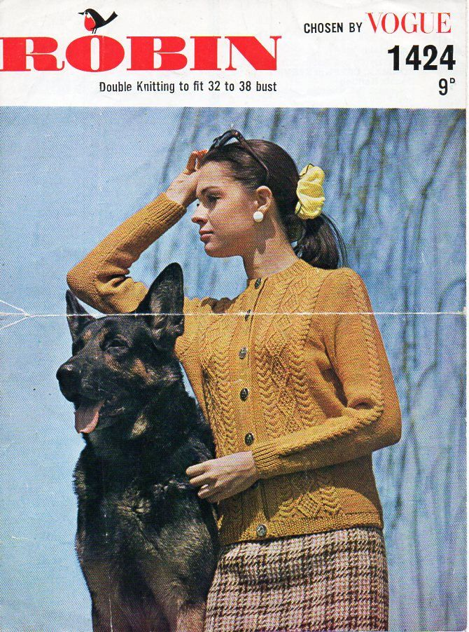 ladies aran cardigan knitting pattern pdf womens aran jacket Vintage ...