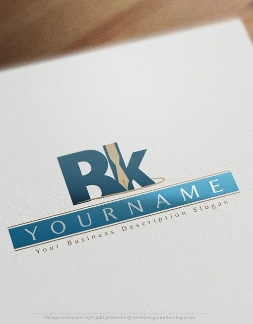 Design Alphabet Online Logo Template FREE Business Card Law Firm - Free business card templates online