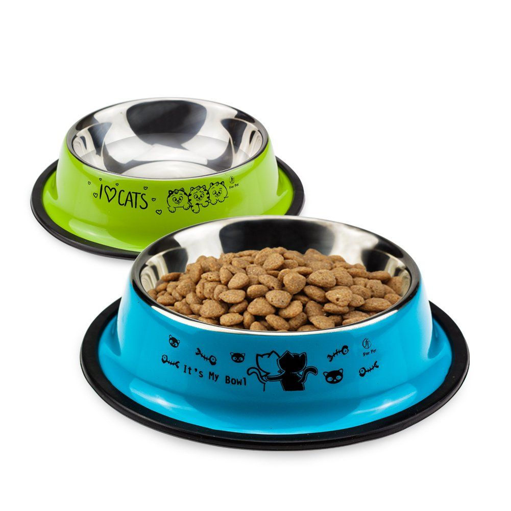Uligota 2 Pack Stainless Steel Cat Bowlsmall Heavy Duty Dog And