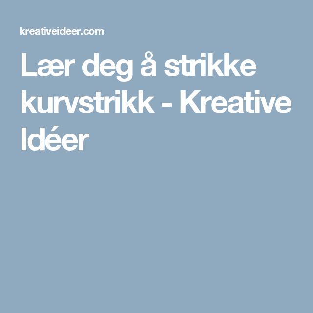 Photo of Lær deg å strikke kurvstrikk – Kreative Idéer