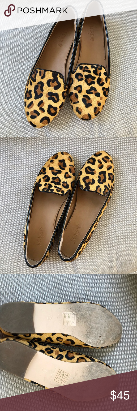 8755e3f4cbf Leopard loafer flats. Size 7. Excellent used condition. Like new! Perfect  for the season! J. Crew Factory Shoes Flats   Loafers