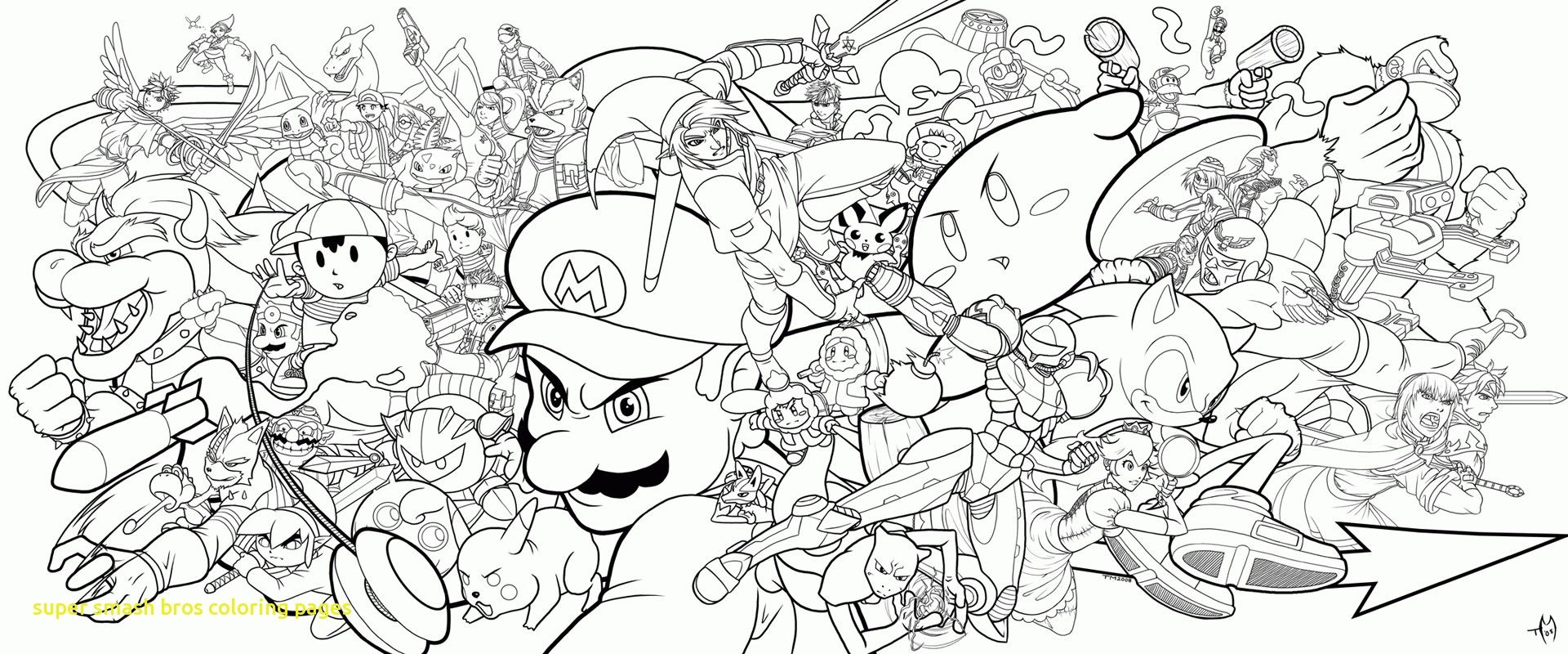 Super Smash Bros Coloring Pages Co Inside Faba Me In Kleurplaten