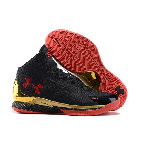 cheap best under armour stephen curry 1 championship boys grade school black metalic gold basketball