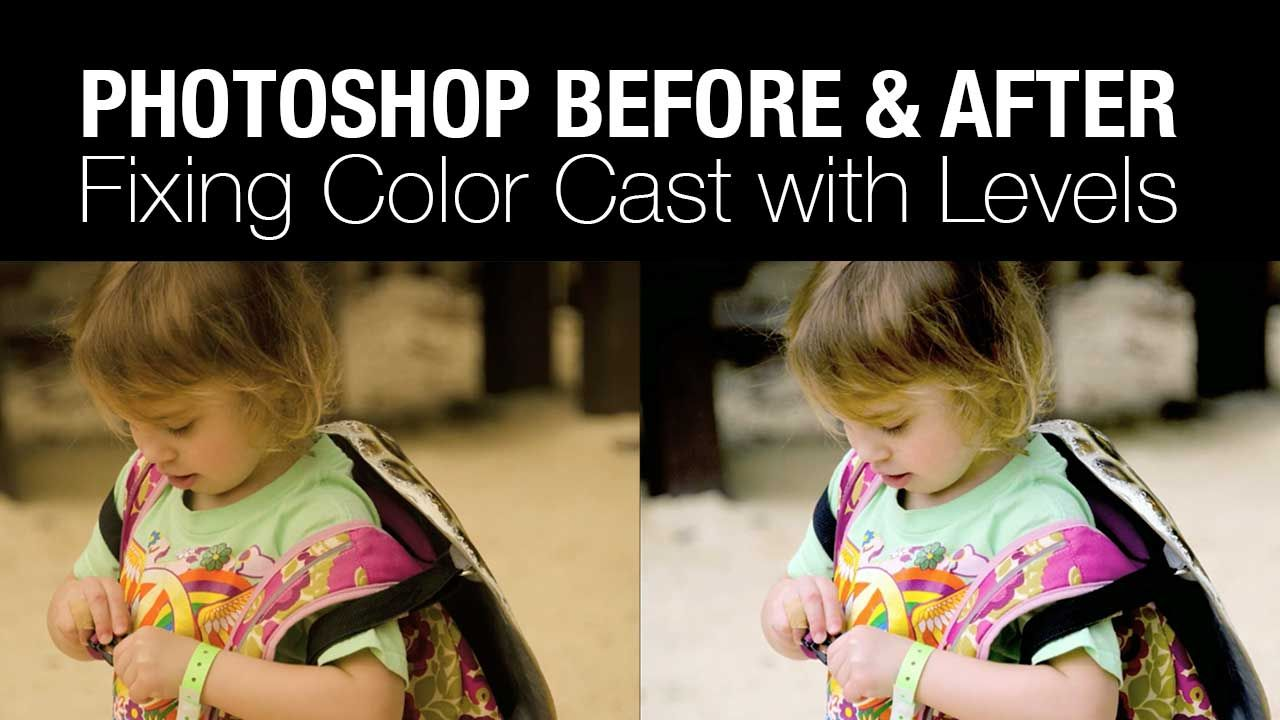 How to fix color cast in photoshop elements - Using A Levels Adjustment To Remove A Color Cast In Photoshop Photofocus