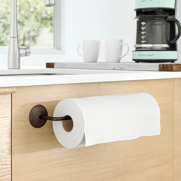 Demi Wall Under Cabinet Mounted Paper Towel Holder In 2020 Paper Towel Holder Paper Towel Holder Kitchen Towel Holder