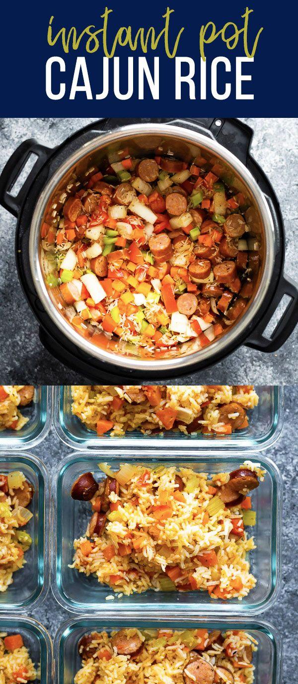 Instant Pot Cajun Rice and Sausage #instantpotrecipes