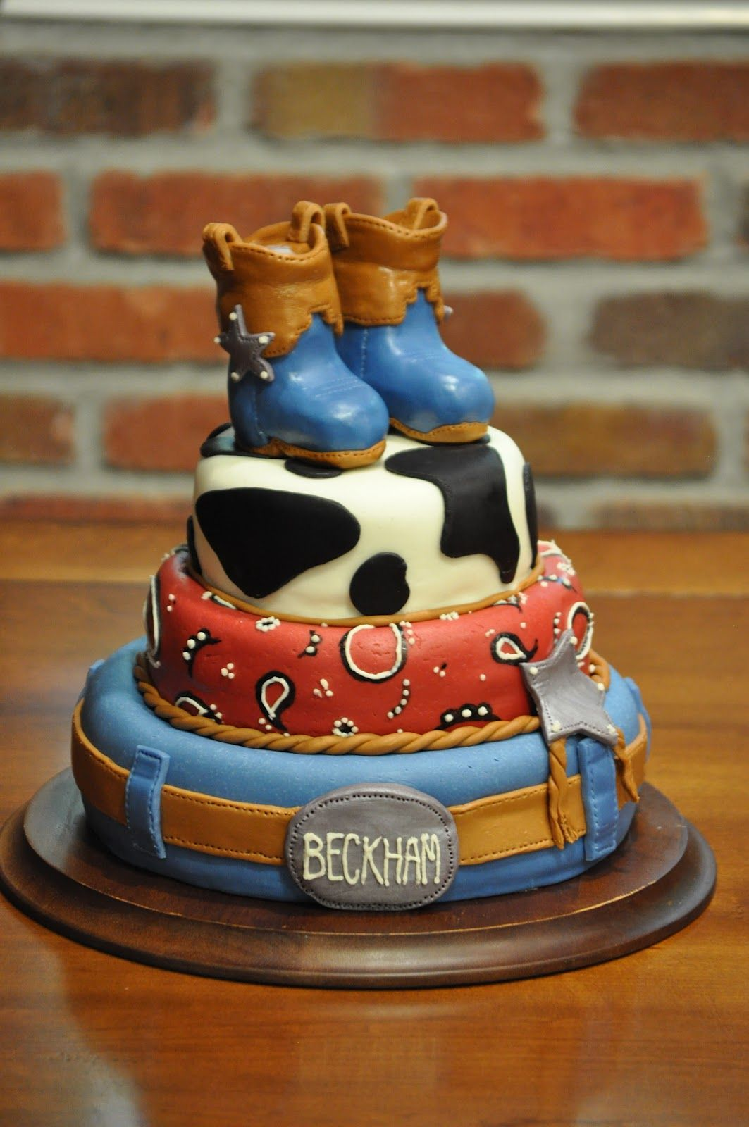 Cowboy Birthday Party Cake Childrens Party Ideas featuring