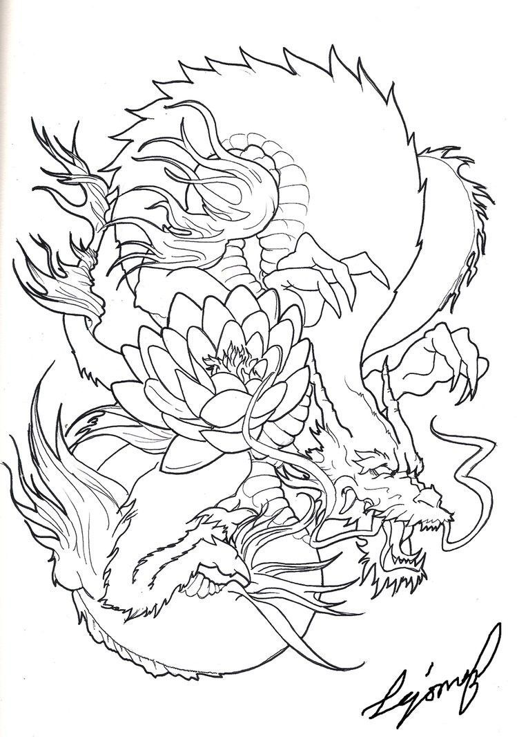 Pin By Melmi On Art With Images Dragon Sleeve Tattoos Japanese Dragon Dragon Tattoo Stencil