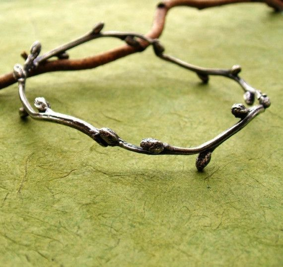 Willow Bangle /great idea for silver clay