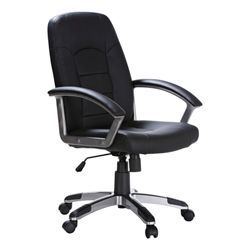Euro Chair Black At 99 00 Leather Officeworks