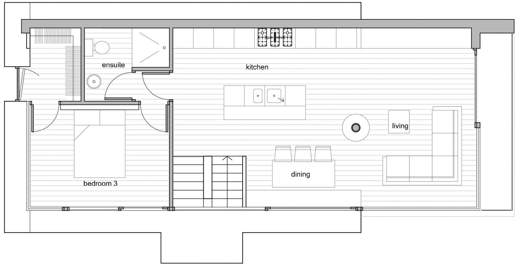 Ground Floor Plan Barn Conversion in Broughshane Northern