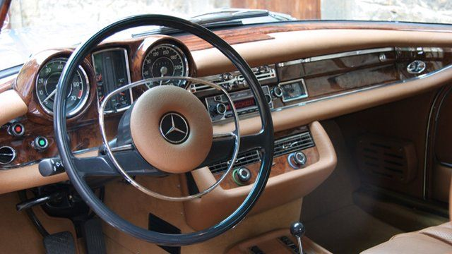 1960s Mercedes W111 Coupe interior - went to high school in a beat upon but it was so much fun!
