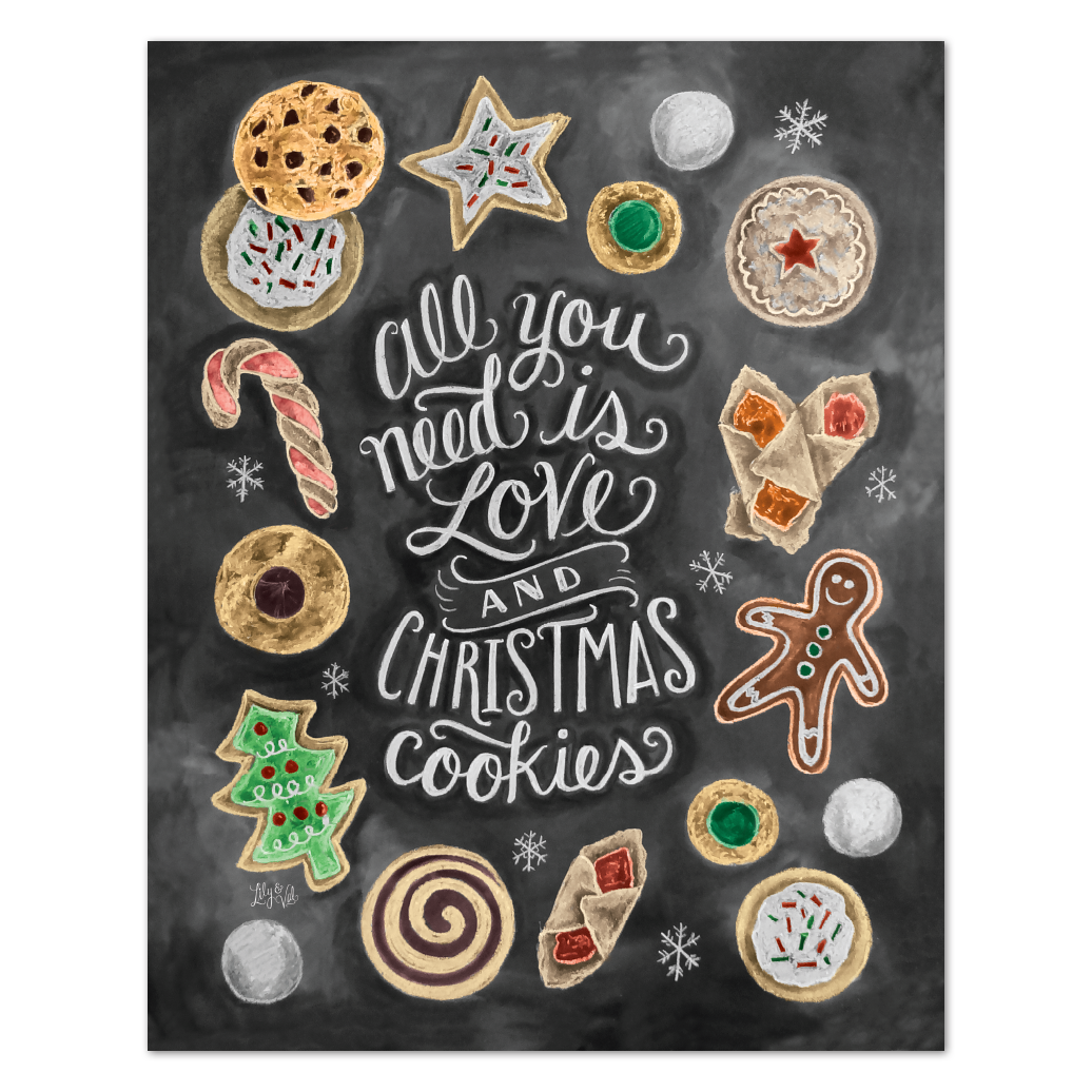 All You Need Is Love Christmas Cookies Print Christmas Cookies Christmas Cookie Exchange Holiday