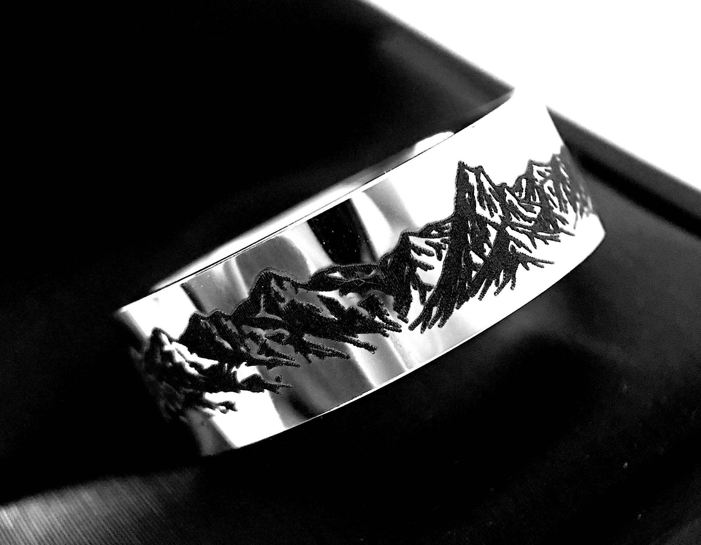 Tungsten Wedding Bands Mountains Ring Wedding Bands Mountain
