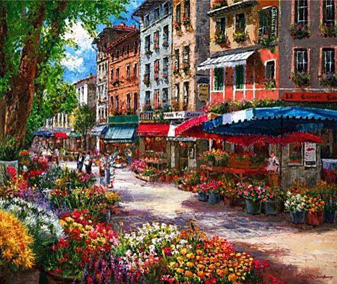 Paris Flower Market ~ Sung Sam Park