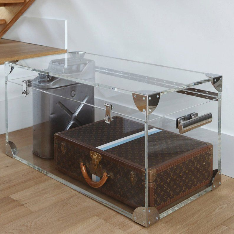 Clear Acrylic Trunk Coffee Table Premium Acrylic Made In The