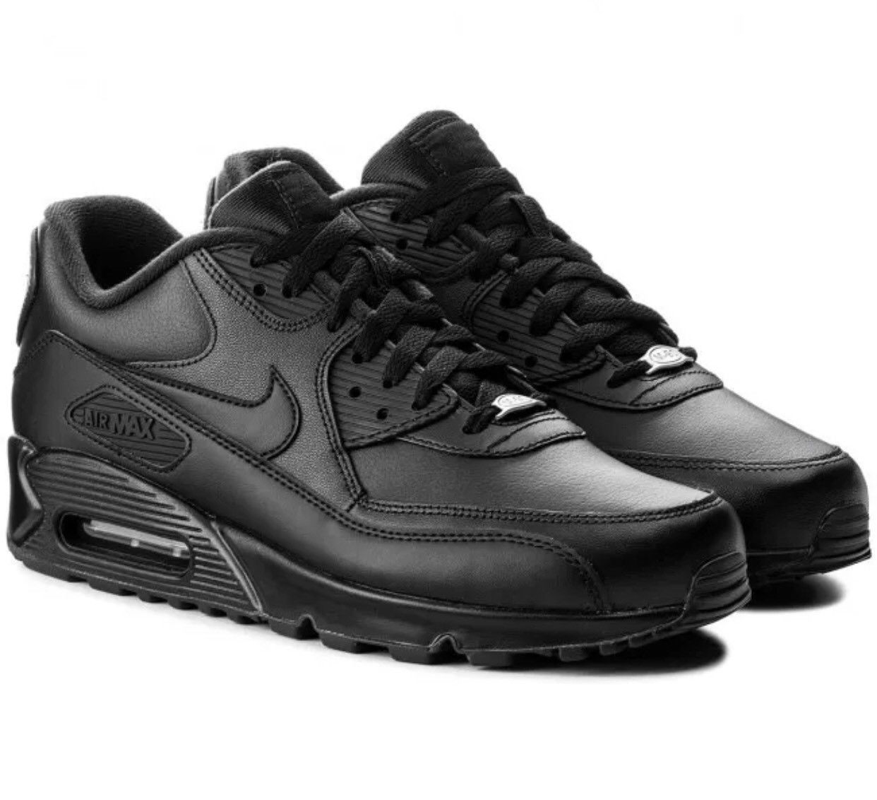 Nike Air Max 90 Leather Men's Shoes BlackMedium Olive