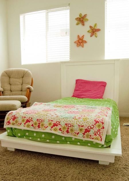 White Twin Platform Bed Do It Yourself Home Projects From Ana